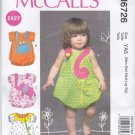 McCall's Sewing Pattern 6726 M6726 Baby Sizes NB-XL Easy Appliqued Bubble Romper One Piece
