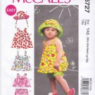 McCall's Sewing Pattern 6727 Infant Baby Sizes NB-XL Easy Reversible Tops Dresses Shorts Hat