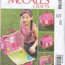 """McCall's Sewing Pattern 6766 Portable Doll House Furniture 5 1/2"""" Doll Zipper Opening"""