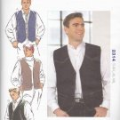 Kwik Sew Sewing Pattern 2314 Mens Sizes S-XXL Lined Vest button Front Welt Pockets
