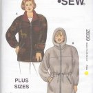 Kwik Sew Sewing Pattern 2839 Women's Plus Sizes 1X-4X (22W-32W) Zipper Front Jacket Hood Anorak