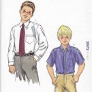 Kwik Sew Sewing Pattern 2973 Boys Sizes 4-7 Button Front Long Short Sleeve Dress Shirt