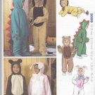 Kwik Sew Sewing Pattern 3099 Boys Girls Sizes 6M-4 Costumes  Lion Bear Bunny Cat Dinosaur