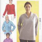 Kwik Sew Sewing Pattern 3121 Misses Sizes XS-XL (8-22) Pullover Knit Long Sleeve Top