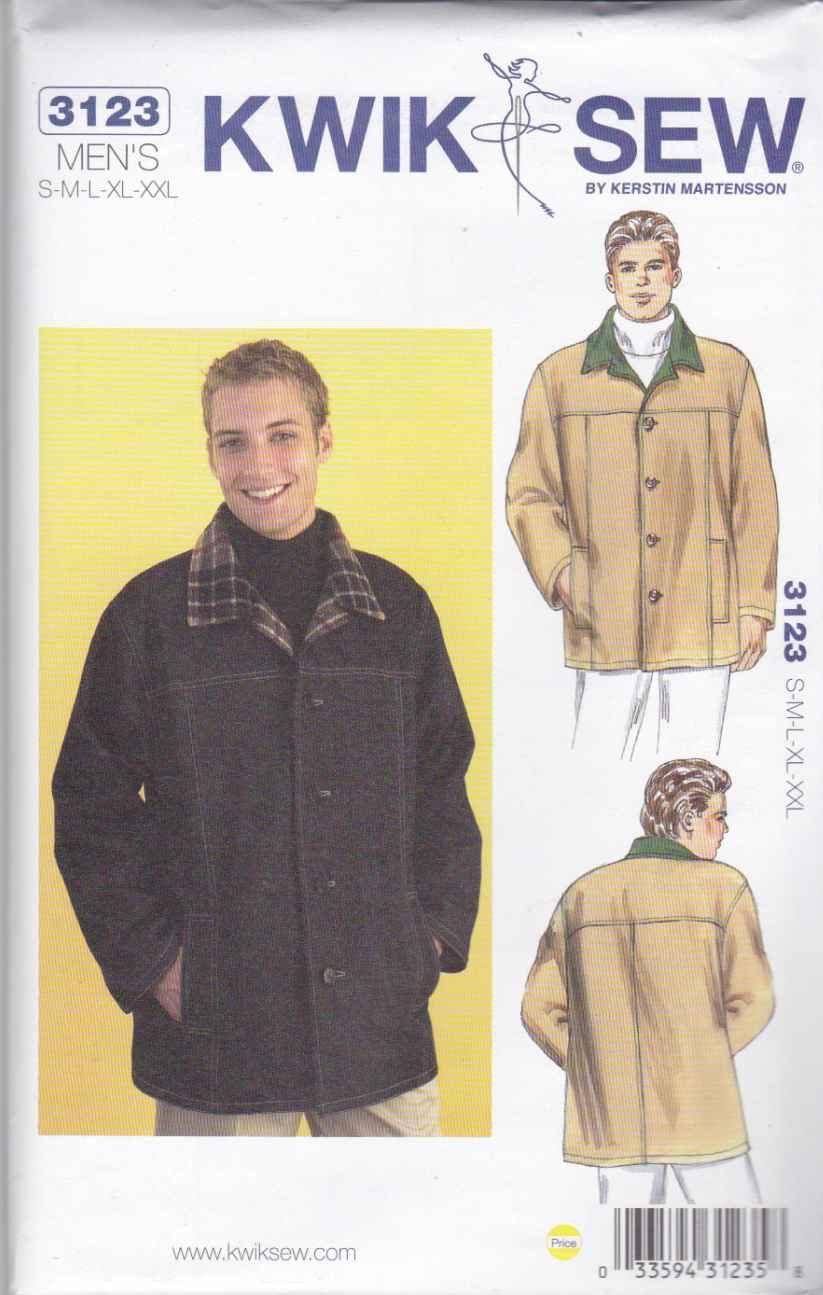 Kwik Sew Sewing Pattern 3123 Men's Sizes S-XXL (chest 34 ...