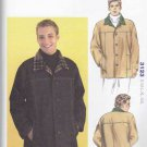 "Kwik Sew Sewing Pattern 3123 Men's Sizes S-XXL (chest 34""-52"") Button Front Barn Jacket"