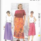 Kwik Sew Sewing Pattern 3138 Women's Plus Size 1X-4X ( 22W-32W) Front Wrap A-Line Skirts