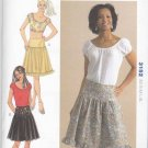 Kwik Sew Sewing Pattern 3152 Misses Sizes XS-XL (6-22) Peasant Cropped Tops Skirts