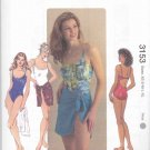 Kwik Sew Sewing Pattern 3153 Misses Sizes XS-XL ( 8-22) Swimsuit Wrap One Piece Bathing Suit