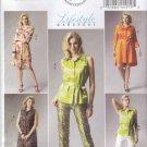 Butterick Sewing Pattern 5897 Misses Size 8-16 Wardrobe Top Dress Belt Shorts Pants Slip