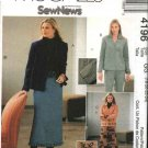 McCall's Sewing Pattern 4196 Misses Size 8-14 SewNews Unlined Jacket Pants Skirts Embroidery