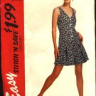 McCall's Sewing Pattern 7045 Misses Size 14-20 Easy Button Front Pleated Skirt Romper
