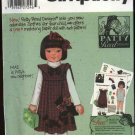 Simplicity Sewing Pattern 5297 Girls Size 3-6 Patty Reed Pleated Front Jumper Purse Hairbow