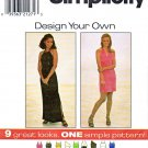 Simplicity Sewing Pattern 8015 Misses Size 4-8 Formal Casual Halter Straight Knit Dresses