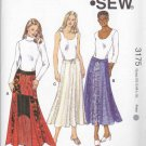 Kwik Sew Sewing Pattern 3175 Misses Size XS-XL (6-22) Flared Gored Color Block Skirts