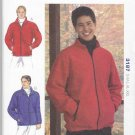 "Kwik Sew Sewing Pattern 3187 Mens Size S-XXL (Chest 34-52"") Zipper Front Jacket"