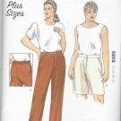 Kwik Sew Sewing Pattern 3202 Women's Plus Sizes 1X-4X (approx 22W-32W) Pants Shorts