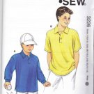 Kwik Sew Sewing Pattern 3226 Boys Sizes XS-XL (4-14) Pullover Long Short Sleeve Knit Shirts