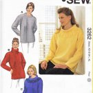 Kwik Sew Sewing Pattern 3262 Misses Sizes XS-XL (approx. 8-22) Easy Pullover Fleece Tops