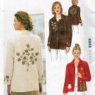 Kwik Sew Sewing Pattern 3293 Misses Sizes XS-XL (approx. 8-22) Applique Button Front Jacket