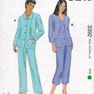 Kwik Sew Sewing Pattern 3392 Misses Size XS-XL (approx. 8-22) Jacket Cropped Long Pants