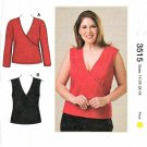 Kwik Sew Sewing Pattern 3515 Women's Plus Sizes 1X-4X (approx. 22W-32W) Women's Knit Front Wrap Tops