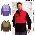 "Kwik Sew Sewing Pattern 3569 Men's Sizes S-XXL (chest 34-52"") Jackets Windbreaker Windcheater"