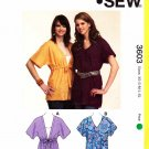 Kwik Sew Sewing Pattern 3603 Misses Sizes XS-XL (approx 8-22) Learn-to-sew Tops