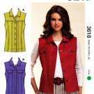Kwik Sew Sewing Pattern 3618 Misses size XS-XL (approx. 8-22) Blue Jean Jacket Style Vest