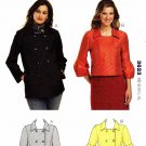 Kwik Sew Sewing Pattern 3623 Misses size XS-XL (approx. 8-22) Unlined Double Breasted Jackets
