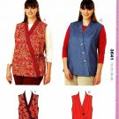 Kwik Sew Sewing Pattern 3641 Women's Plus Size 1X-4X (approx 22W-32W) Wrap Front Vests