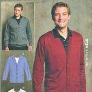 "Kwik Sew Sewing Pattern 3724 Men's Sizes S-XXL (chest 34""-52"") Knit Cardigans Sweaters"
