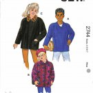 Kwik Sew Sewing Pattern 2744 Girls' & Boys Size 4-7 Shirt-Jacket Pullover Zipper Front