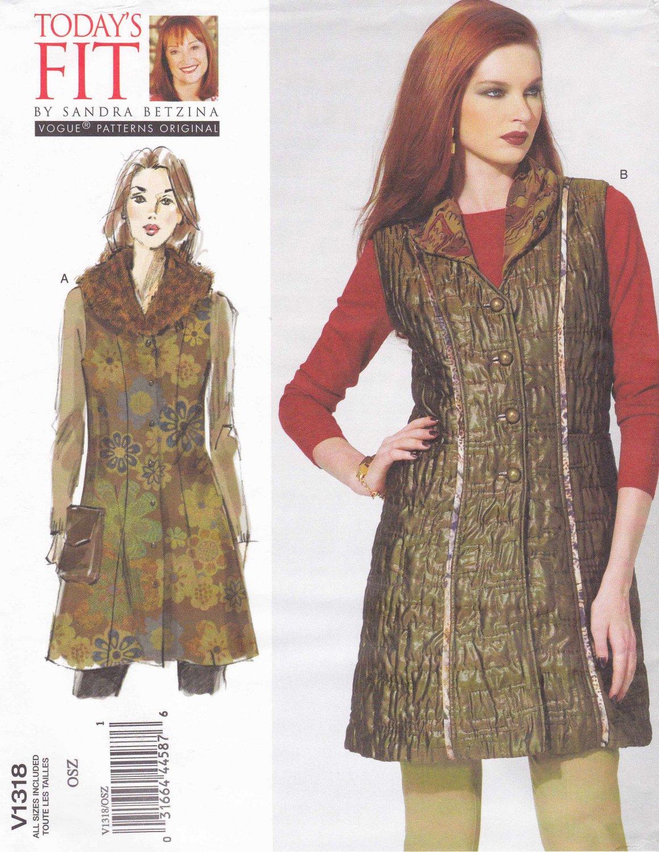 Vogue Sewing Pattern 1318 Misses Women S Plus Size 10 32w