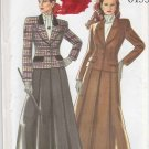 New Look Sewing Pattern 6155 Misses' Size 8-18 Lined Long Sleeve Button Front Jacket