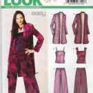 New Look Sewing Pattern 6202 Misses' Size 6-16 Long Sleeve Duster Camisole Pants