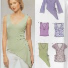 New Look Sewing Pattern 6355 Misses' Size 6-16 Easy Pullover Knit Tops