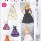 McCalls Sewing Pattern 6646 Misses' Size 8-16 Create It Formal Long Short Dress