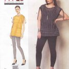 Vogue Sewing Pattern 1376 Misses'/Women's Plus Size 10-32W Sandra Betzina Easy Pullover Top Leggings