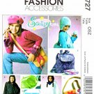 McCalls Sewing Pattern 4727 Girls Size 7-16 Acessories Poncho Messenger Bag Backpack Hat