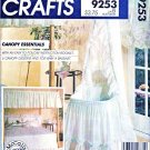 McCalls Sewing Pattern 9253 Easy Canopy Essentials Bed Canopy Baby Bassinet