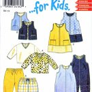 New Look Sewing Patterns 6024 Girls Sizes 1/2 - 4 Jumper Dress Vest Top Pants Overalls