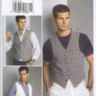 "Vogue Sewing Pattern 8987 V8987 Men's Chest Size 40-46"" Button Front Lined Vest Collar Option"