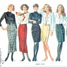 New Look Sewing Patterns 6102 Misses Sizes 8-18 Fitted Straight Skirts Two Lengths