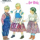 New Look Sewing Patterns 6127 Girls Boys Sizes 3-8 Jumper Denim Overalls Tiered Skirt Jumper