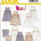 New Look Sewing Patterns 6493 Girls Sizes 4-9 Jumper Dress Jumpsuit Romper Top