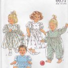 New Look Sewing Patterns 6651 Baby Girl Sizes 3m-24m Classic Dress Jumpsuit Romper