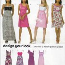 New Look Sewing Pattern 6933 Misses Size 4-16 Empire Raised Waist Dress Sleeve Neckline Options