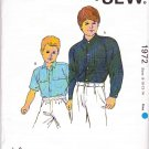 Kwik Sew Sewing Pattern 1972 Boys Sizes 8-14 Button Front Shirt Long Short Sleeves