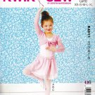 Kwik Sew Sewing Pattern 4011 Girls Sizes 4-14 Leotard Skirt Shrug Dance Skate Costume